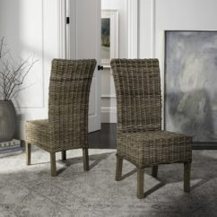 Gray Rattan Dining Chairs Restaurant Wood Buy Kitchen Room Online At Overstock Com Safavieh Rural Woven Quaker Unfinished Natural Wicker Set Of 2