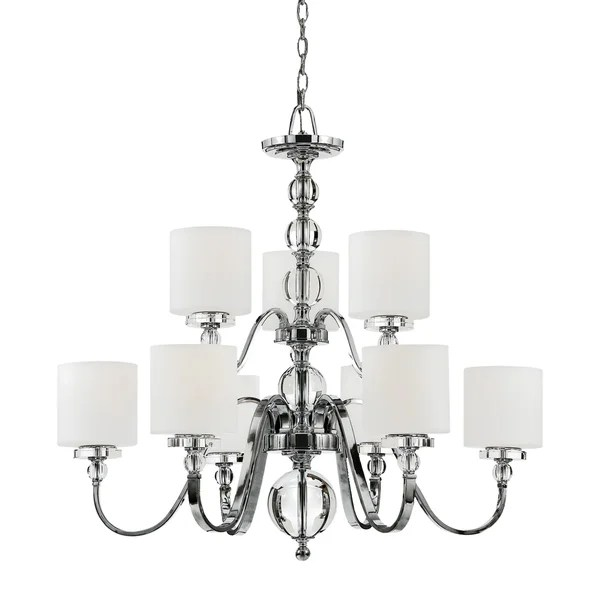 Quoizel Downtown Two Tier 9 Light Chandelier
