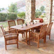 7-piece Acacia Wood Patio Dining Set - Free Shipping
