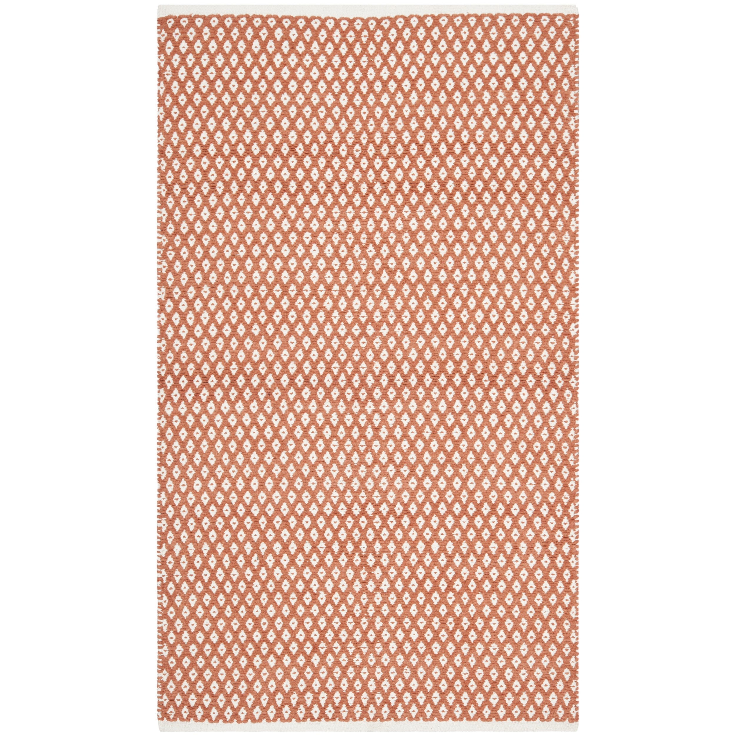 Outdoor Teppich Overstock Safavieh Hand Loomed Moroccan Orange Cotton Rug 8 39 X 10