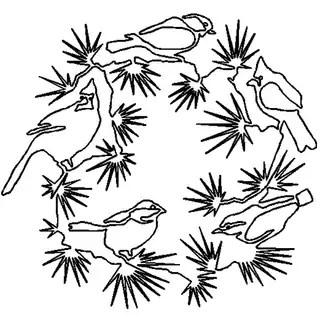 Shop Quilt Stencils By Julie Mullin-Bird Wreath 14