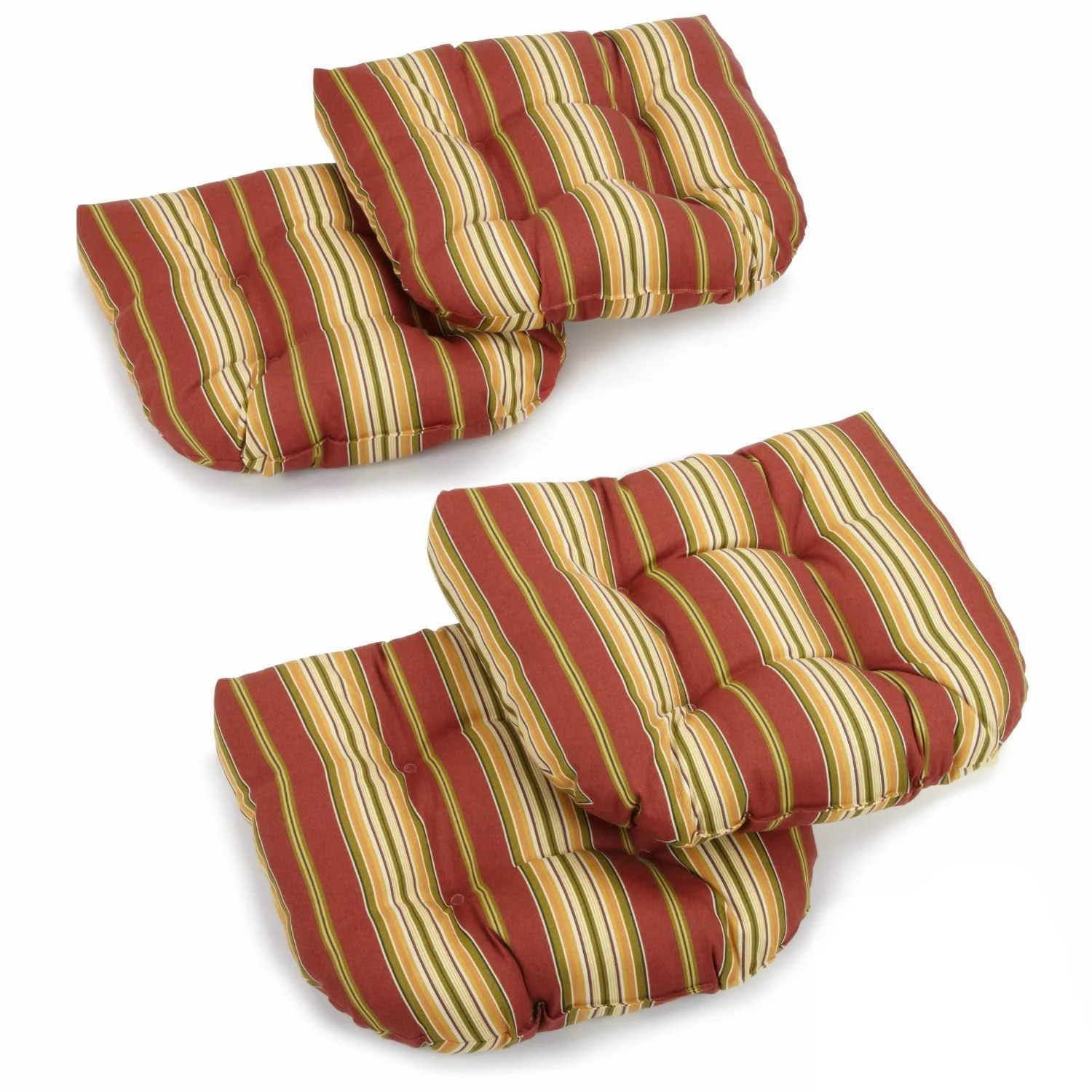 outdoor chair cushions set of 4 mount keyboard tray india blazing needles 19 inch spun polyester rocker