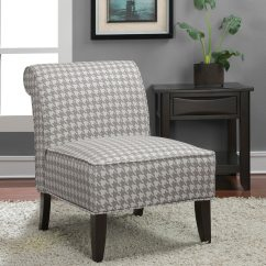 Overstock Com Chairs Chair Covers For Sale In Namibia 39sadie 39 Grey Houndstooth Slipper