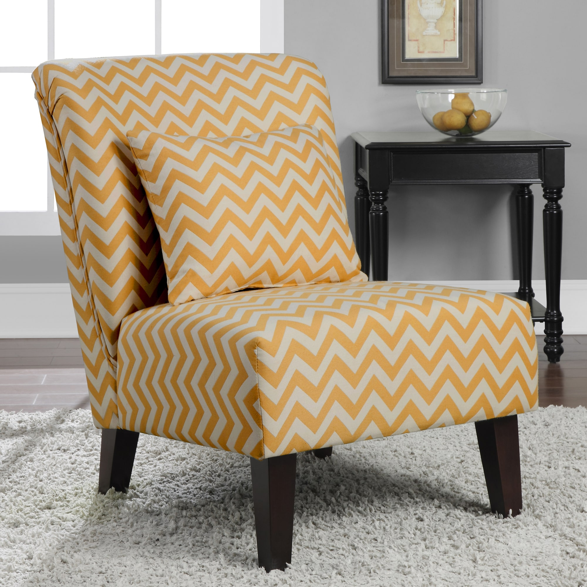 overstock com chairs beach at target anna french yellow chevron fabric accent chair