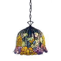 Tiffany Style Rainbow Forest Hanging Pendant Lamp Stained ...