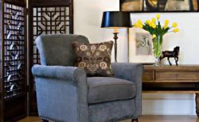 Angelo Home Harlow Twillo Bluestone Accent Arm Chair