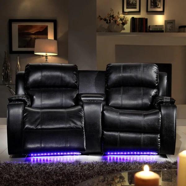 Garrett LED Lighted Massager Cooler 2seater Theater