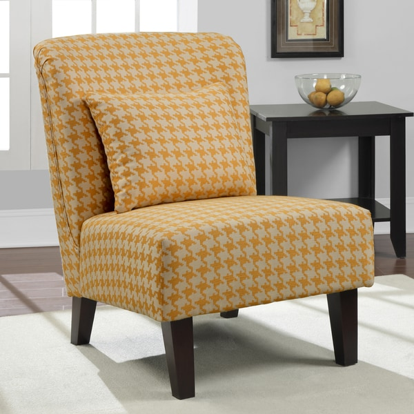 Shop 'anna' Yellow Houndstooth Accent Chair Free