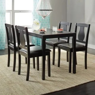 kitchen dining set marielle faucet buy room sets online at overstock com our best simple living black 5 piece kaylee
