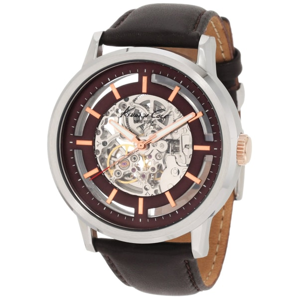 Shop Kenneth Cole Men's Automatic Skeleton Dial Watch - Free Shipping Today - Overstock - 7723680