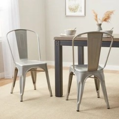 Dining Table With Metal Chairs Windsor Chair Cushions Buy Kitchen Room Online At Overstock Com Our Tabouret Bistro Steel Set Of 2