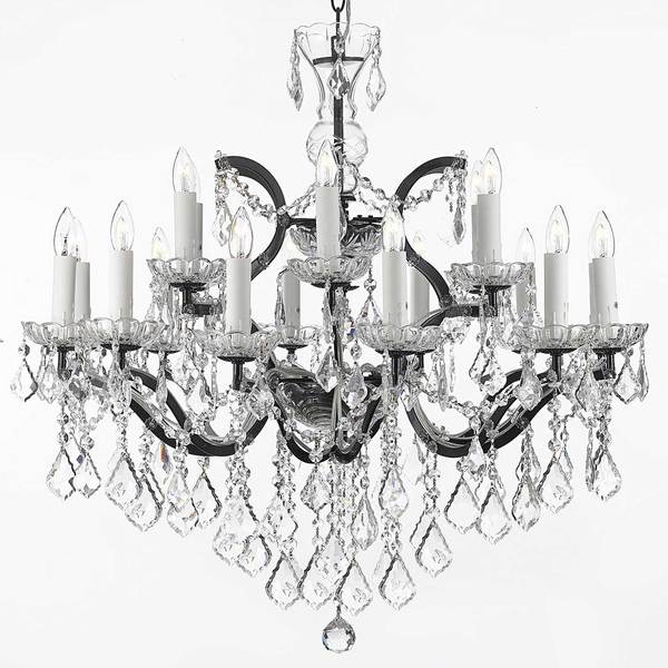 Gallery Rococo 19th C 18-light Black Wrought Iron and