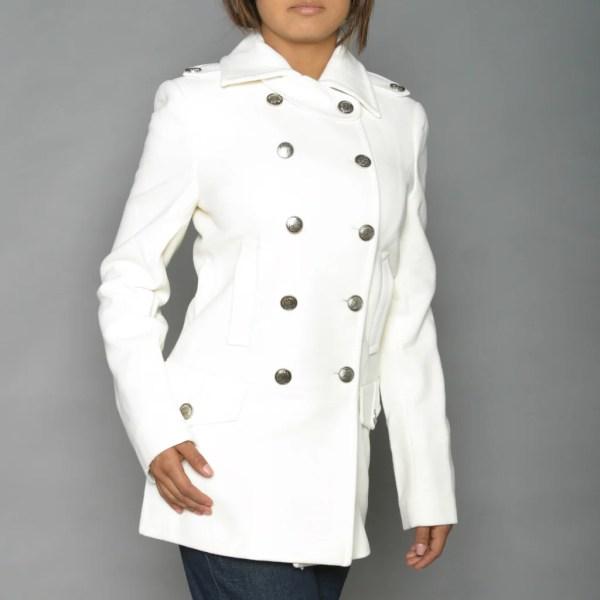 Alpha Industries Women' Winter White Long Wool-blend