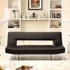 Black Vinyl Futon Sofa Images Of Pillows On Leather Sofas Bento Klic Klac Bed 14049297