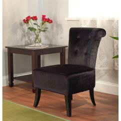 Overstock Com Chairs American Girl Chair Simple Living Anna Black Velvet Accent Free