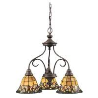 Tiffany-style 3-Light Bronze Chandelier - Free Shipping ...