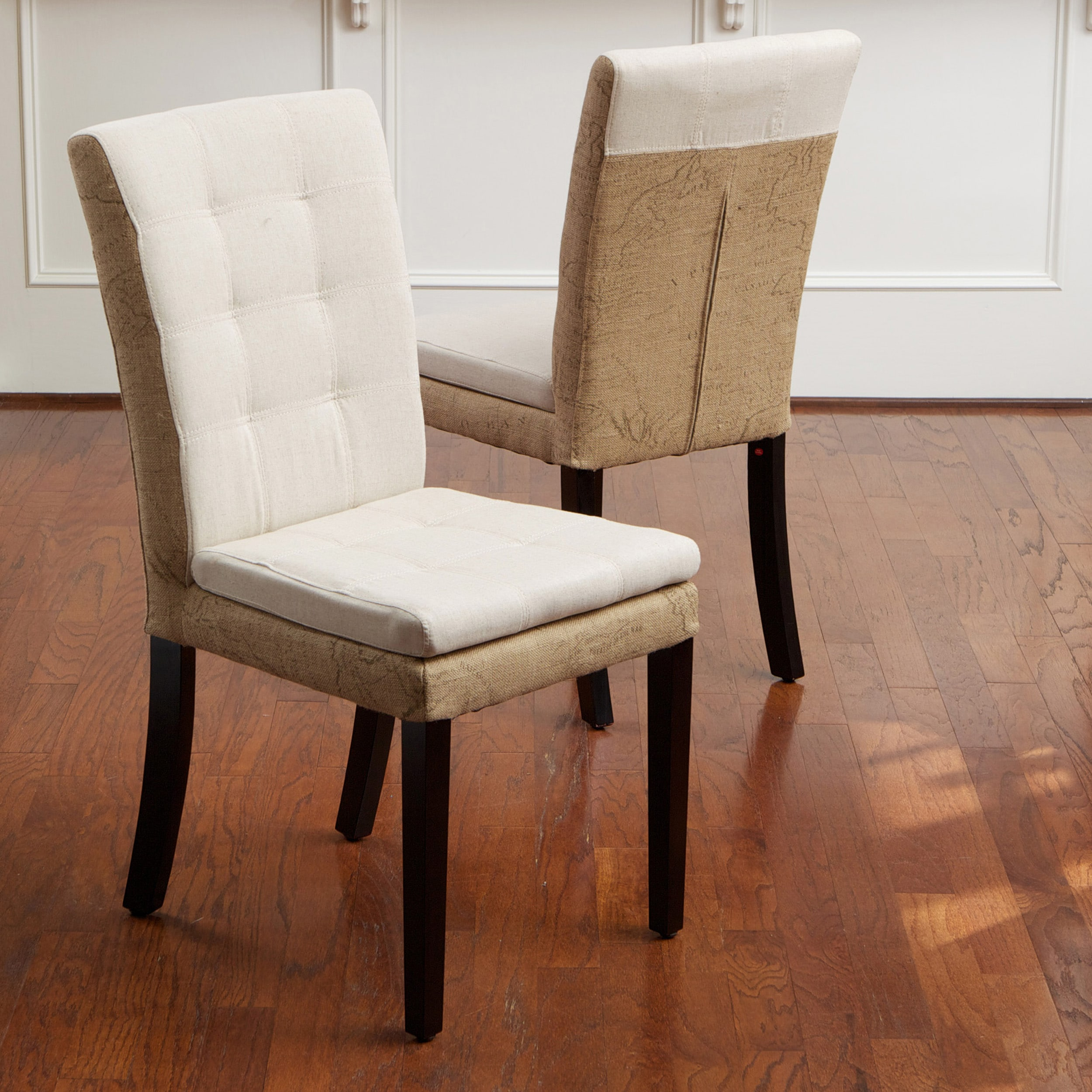 Burlap Dining Chairs Lacey Linen And Burlap Dining Chairs Set Of 2 Free
