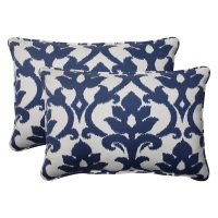 Shop Pillow Perfect Bosco Polyester Navy Corded Oversized ...