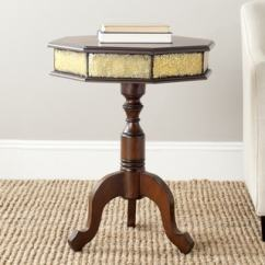 Brown Vine Leather Sofa Accent Chairs To Match Geometric Coffee, & End Tables - Affordable ...
