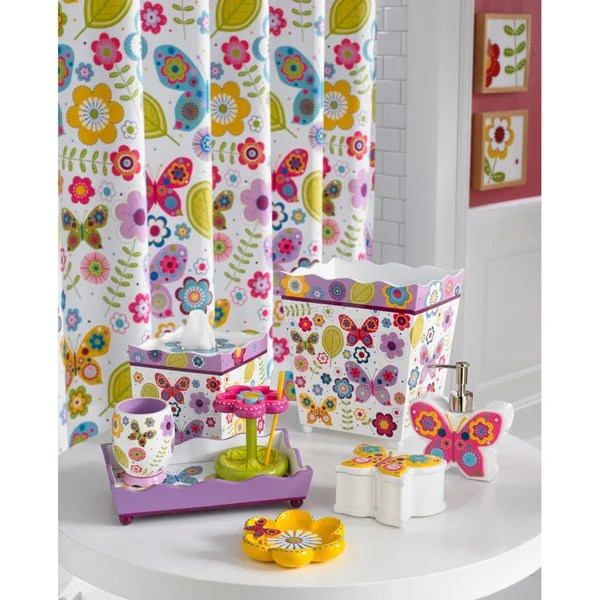 Shop Butterfly Bath Accessory Collection  Free Shipping On Orders Over 45  Overstock  7828059