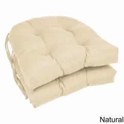 Wicker Chair Cushions With Ties Child Folding Blazing Needles 16 Inch U Shaped Twill Dining