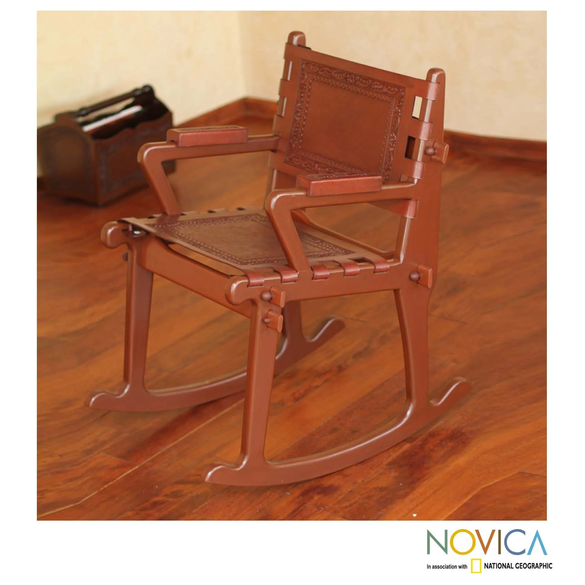 rocking chair leather and wood cover rentals albuquerque mohena 39colonial country 39