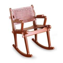 Handmade Rocking Chairs Used Party Tables And For Sale Shop Mohena Wood Leather Chair Inca Memories Peru Free Shipping Today Overstock Com 7856991