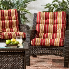 High Back Chair Patio Furniture Christmas Covers B And M Shop 3 Section Outdoor Roma Stripe Cushion Set Of 2 44l X 22w Free Shipping On Orders Over 45 Overstock Com 7857973