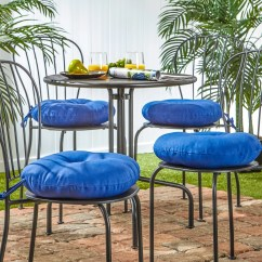 Outdoor Chair Cushions Set Of 4 Game Thrones Office Shop 15 Inch Round Marine Blue Bistro
