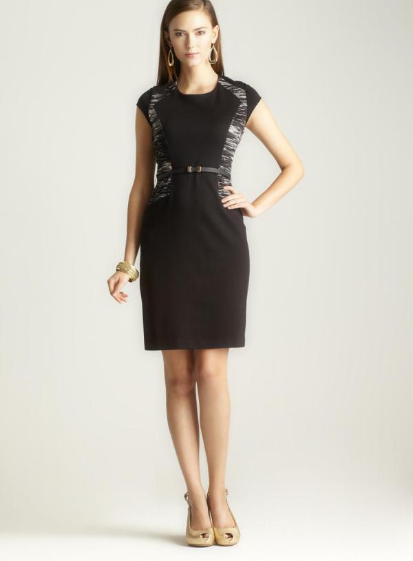Calvin Klein Printed Colorblock Dress - 15247472