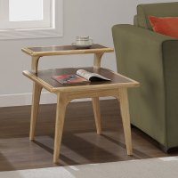 Mid-century Natural Two-tone End Table - Free Shipping ...