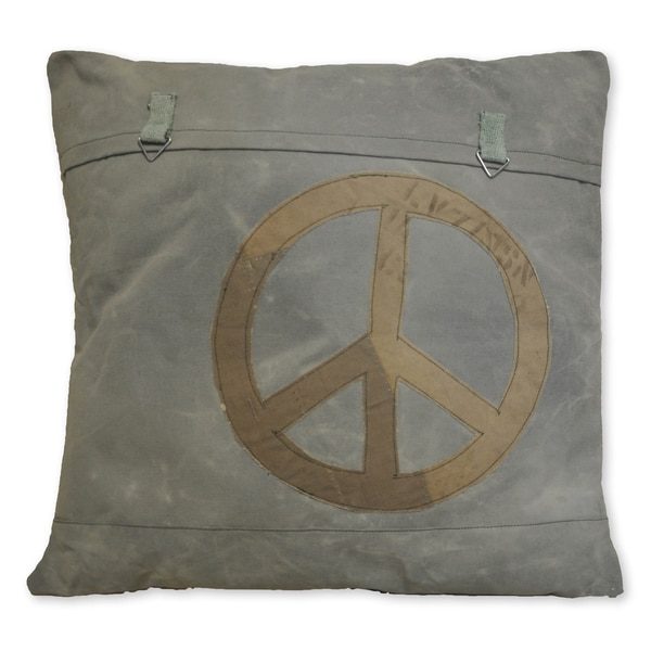 Shop Cottage Home Peace Sign Recycled Canvas Decorative