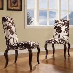 Cow Print Chairs Folding Butterfly Chair Shop Inspire Q Lorell Brown Hide Nailhead Upholstered Traditional Dining (set Of 2 ...