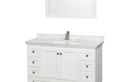 White Bathroom Vanity 48 Inch