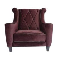 Decenni Tobias Grey Velvet Hollywood Tufted Chaise Lounge ...