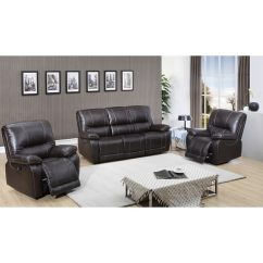 Sofa World Recliner Chairs Set Chair Size Shop Walton Brown Top Grain Leather Power Reclining And Two On Sale Free Shipping Today Overstock Com 7885725