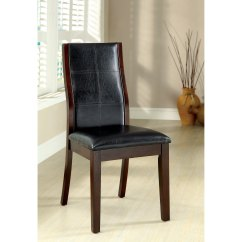 Cherry Dining Chairs Wh Gunlocke Chair Co Shop Furniture Of America Tornillo Leatherette Brown