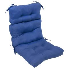 48 High Back Outdoor Chair Cushions Sprout Reviews 44x22 Inch 3 Section Marine Blue