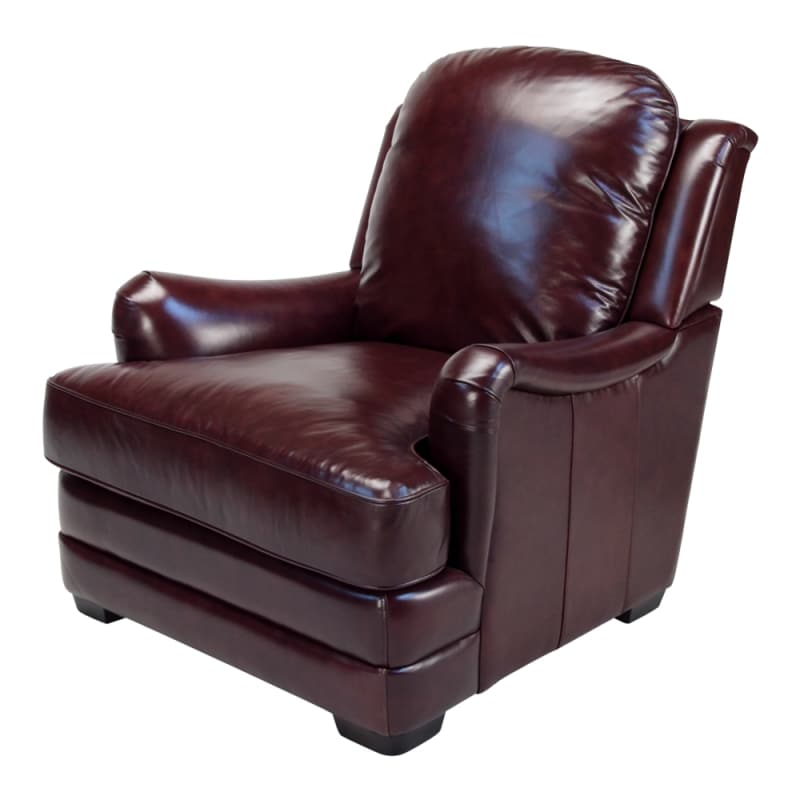 Giorgio Burgundy Leather Club Chair  Free Shipping Today