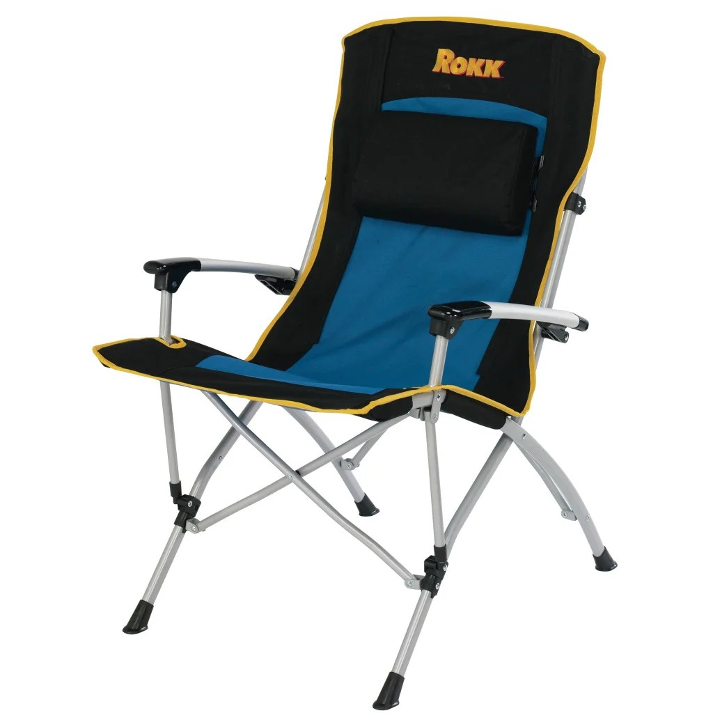 Folding Arm Chair Rokk Comfort Adjust Hard Arm Camping Chair Free Shipping