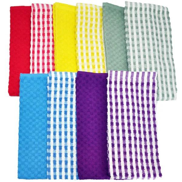 Cotton Terry Kitchen Towel Piece Set Overstock