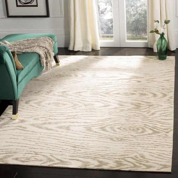 Shop Martha Stewart by Safavieh Faux Bois White Birch Silk Wool Rug  26 x 43  On Sale