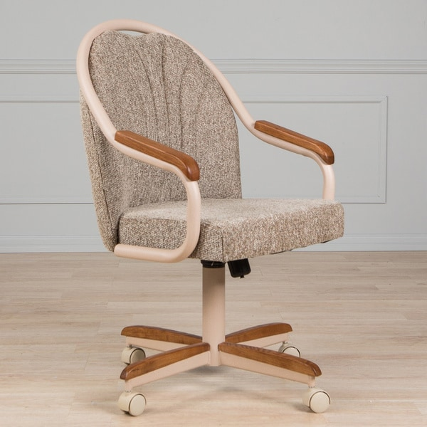 swivel chair no castors wedding alternatives shop casual dining cushion and tilt rolling caster