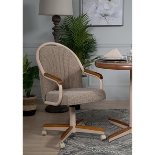 revolving chair for kitchen toddler folding buy swivel dining room chairs online at overstock com quick view