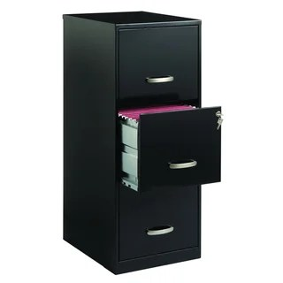 Office Designs 3 Drawer Black Steel File Cabinet