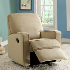 Abbyson Living Rocking Chair Birthday Cover For Classroom Colton Gray Fabric Modern Nursery Swivel Glider Recliner - Free Shipping Today Overstock ...