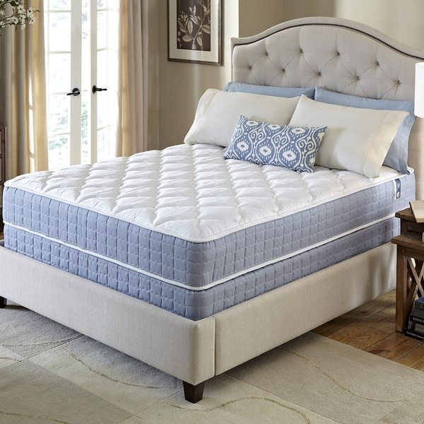 Free White Glove Delivery Imagegalleryspinner Serta Revival Firm Queen Size Mattress And Foundation Set