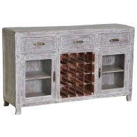 Cosmo Antique Grey Wine Cabinet - Overstock Shopping - Big ...