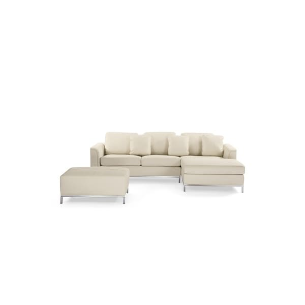 white leather sectional sofa with ottoman jennifer sofas rockville md shop modern beige ollon on
