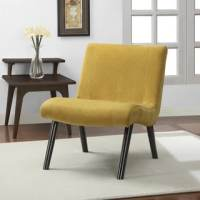 Shop Aqua Armless Tufted Back Chair - Free Shipping Today ...